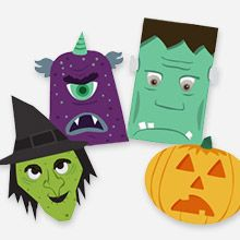 free printable halloween monster window decorations