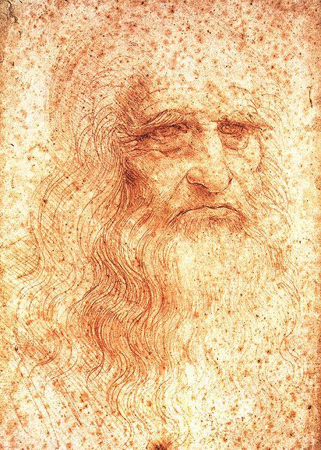 Leonardo da Vinci, Self Portrait, 1512