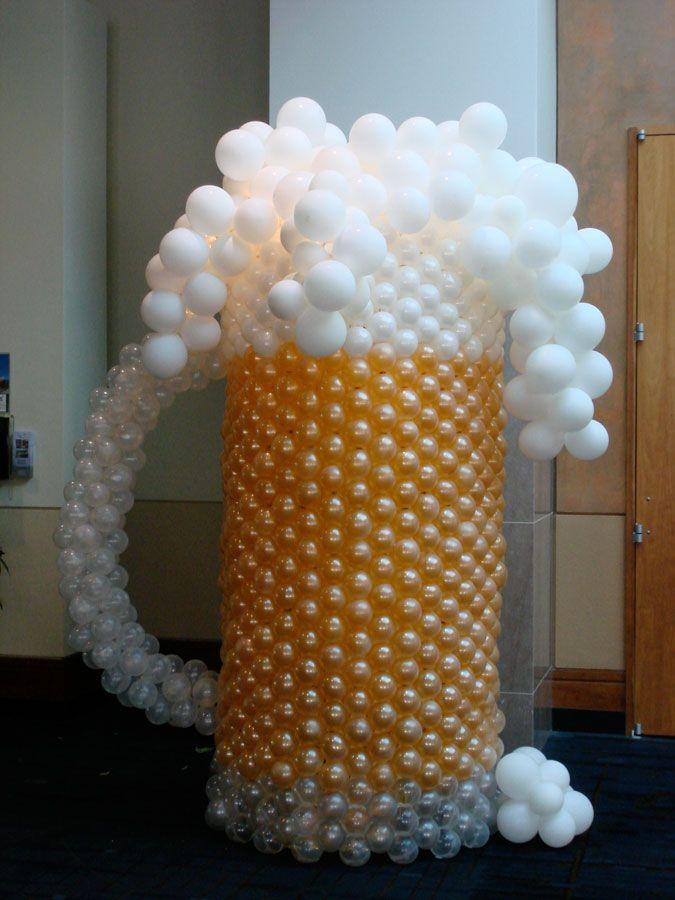 Balloon beer Sculpture