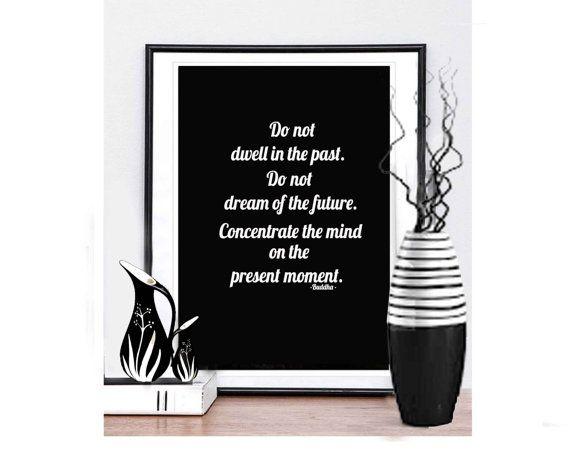 Buddha Quotes  Buddha Wall Art  Buddha Poster  by MotivationalTypo