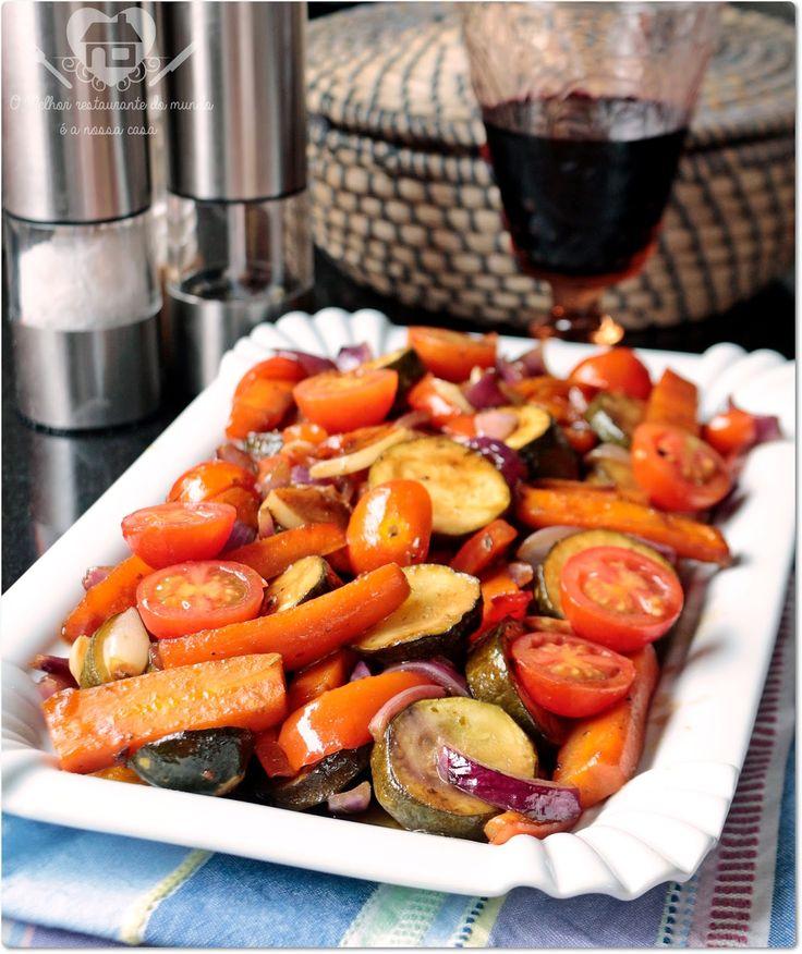 Legumes assados no forno - O melhor restaurante do mundo é a nossa Casa