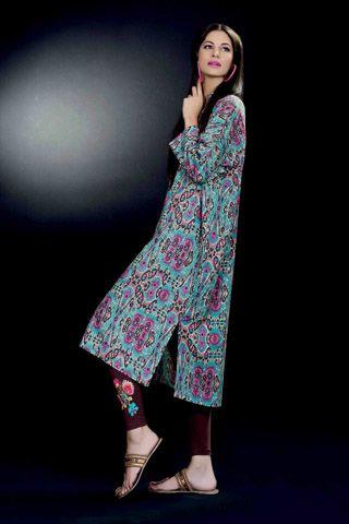 Turkish & Ikat Winter Collection 2012 by Khaadi  #dresses #dress #pakistanidresses