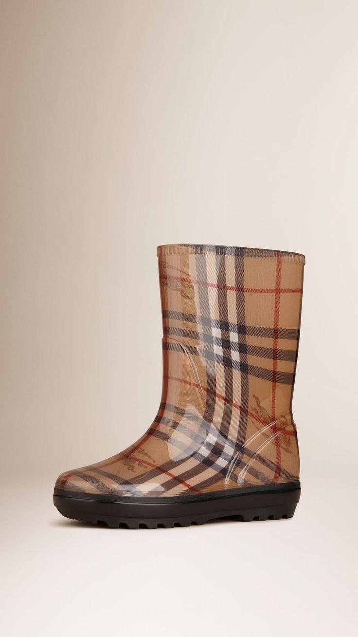 Bottes de pluie en classic check | Burberry