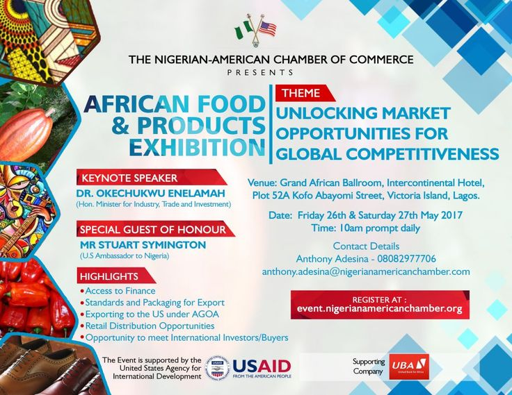 African Foods Products exhibition by Nigerian American Chamber of Commerce Bellafricana