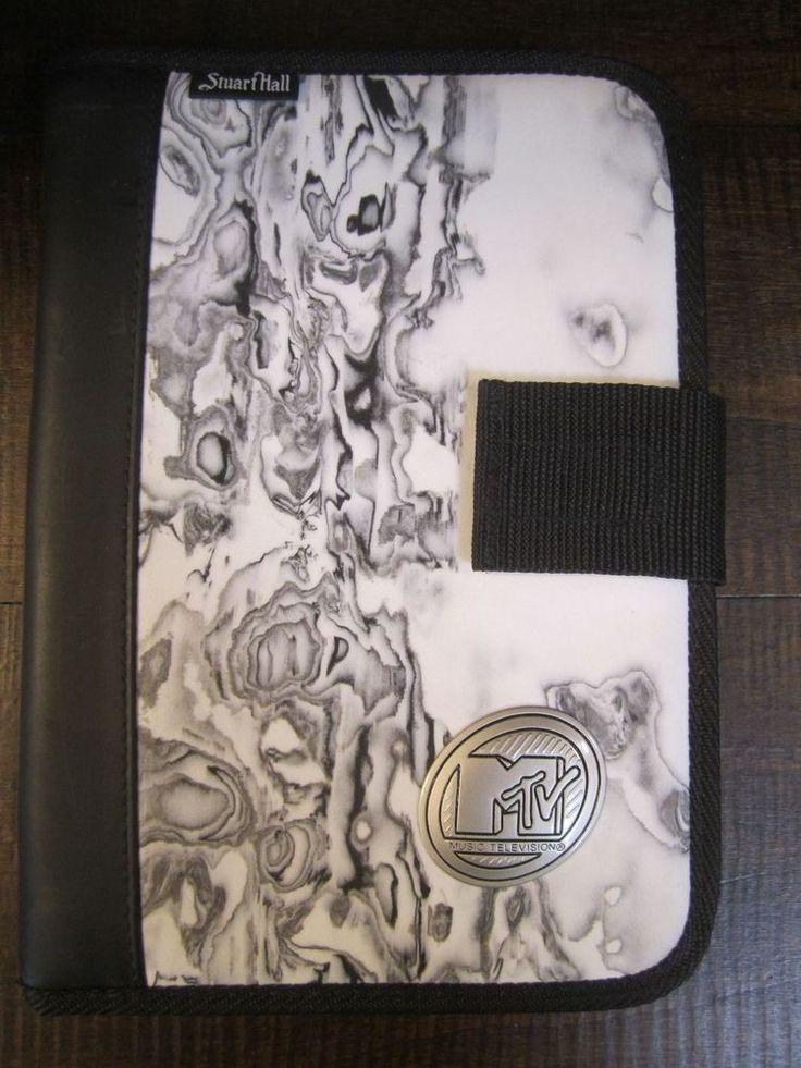 mtv Music Television M TV  Planner Black white gray marble like cover w/ logo #StuartHall