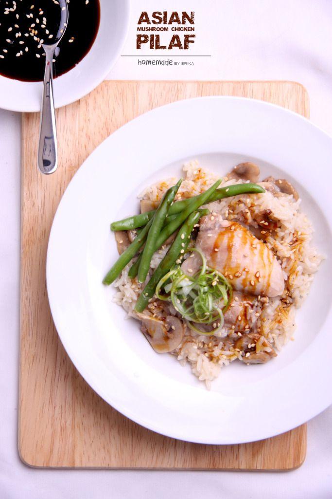 Asian Mushroom Chicken Pilaf. Yum!
