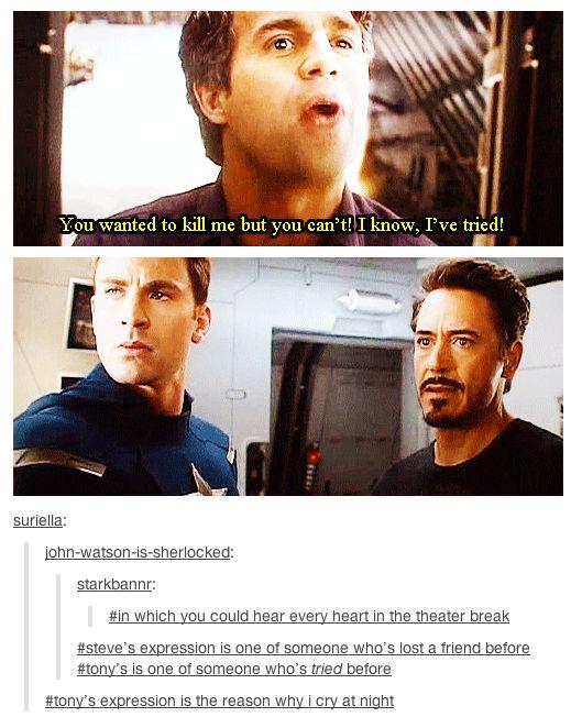 "Love that scene. ""I got really low...."""