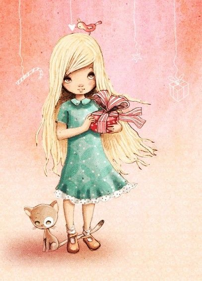 Gift giving girl