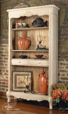 This has a French look as well as the Shabby Chic going on. Bookcases -  Foter