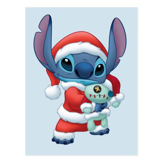 Lilo Stitch Santa Claus Stitch Postcard Zazzle Com Stitch