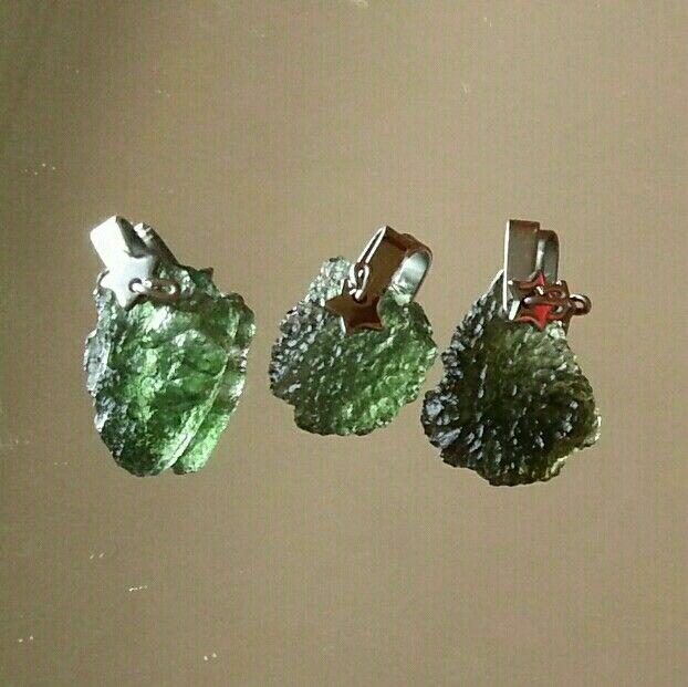 #moldavite #stainless steel #pendants, high vibration #crystal