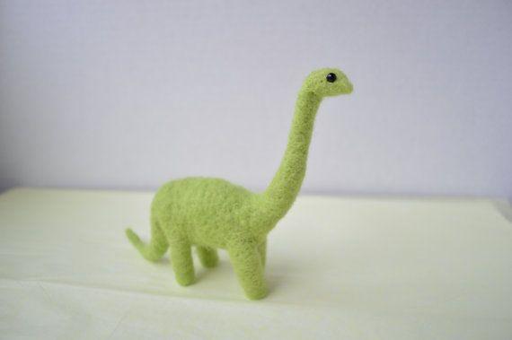 Needle-felted sauropod (MinnowandMopi)