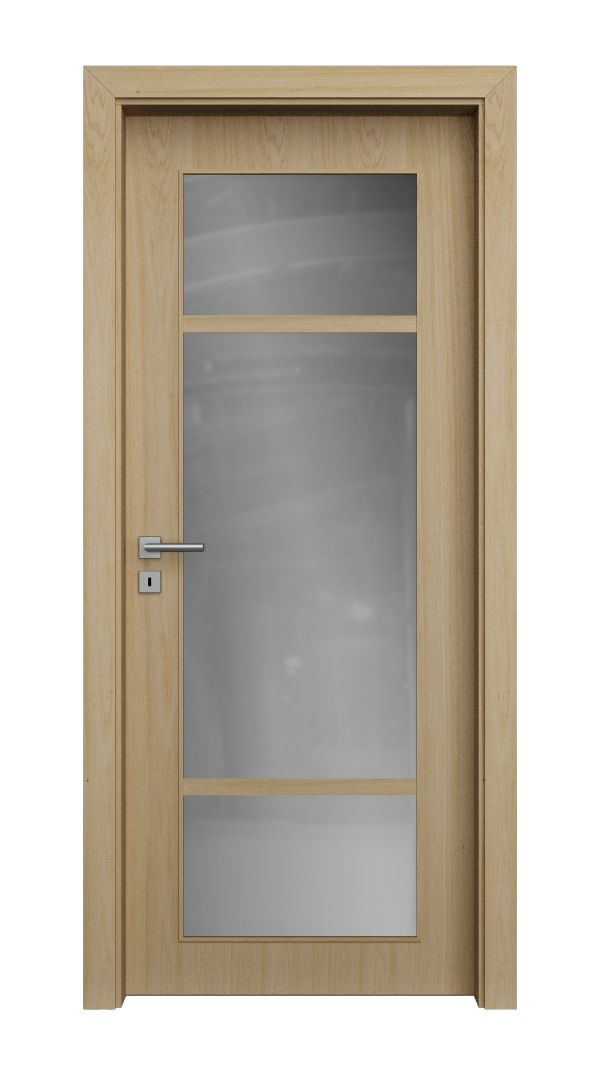 QUADRA structured glazed veneered doors
