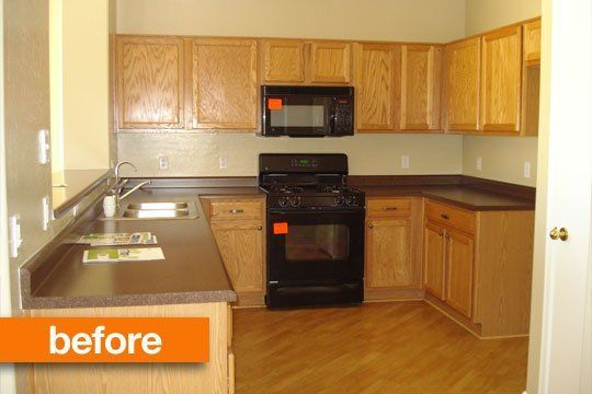 Before & After: Upgrading a Builder's Grade Kitchen — Little House Big Plans   Apartment Therapy
