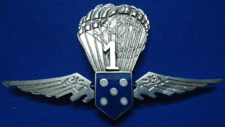 PORTUGAL MOCIDADE WWII FACIST YOUTH PARACHUTE 1 PARAMILITARY UNIT BREAST BADGE