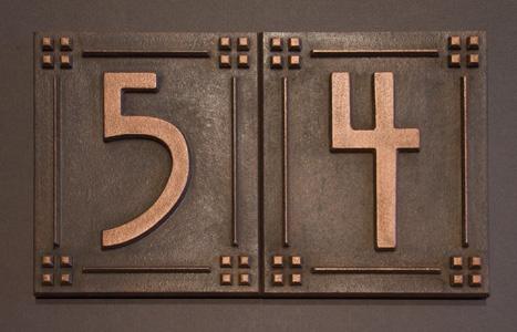 address plaques by JDRS Craftsman  jdrscraftsman.com