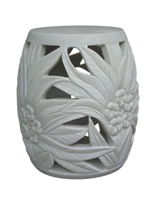 Garden Stool, Artisan Hand Carved in Solid Alabaster, So Beautiful, Sharing Hollywood Luxury Lifestyle Home Decor & Gift Ideas Courtesy Of InStyle-Decor.com Beverly Hills Enjoy & Happy Pinning: Chinese Stools, Garden Stools, Gift Ideas, Luxury Lifestyle, Decor Gift, Hollywood Luxury