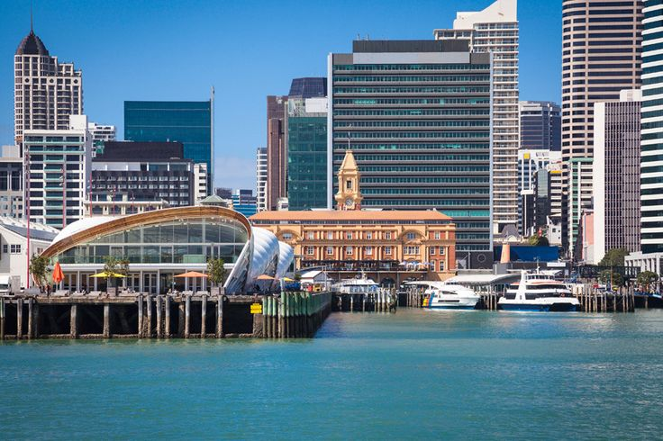 Cityscape with the famous English Baroque Ferry Building centre