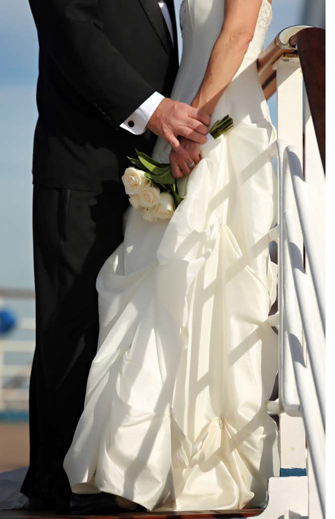 Cruise ship weddings... the photography opportunities are endless!
