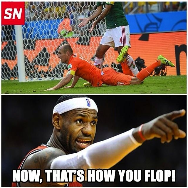 LeBron- Flopping