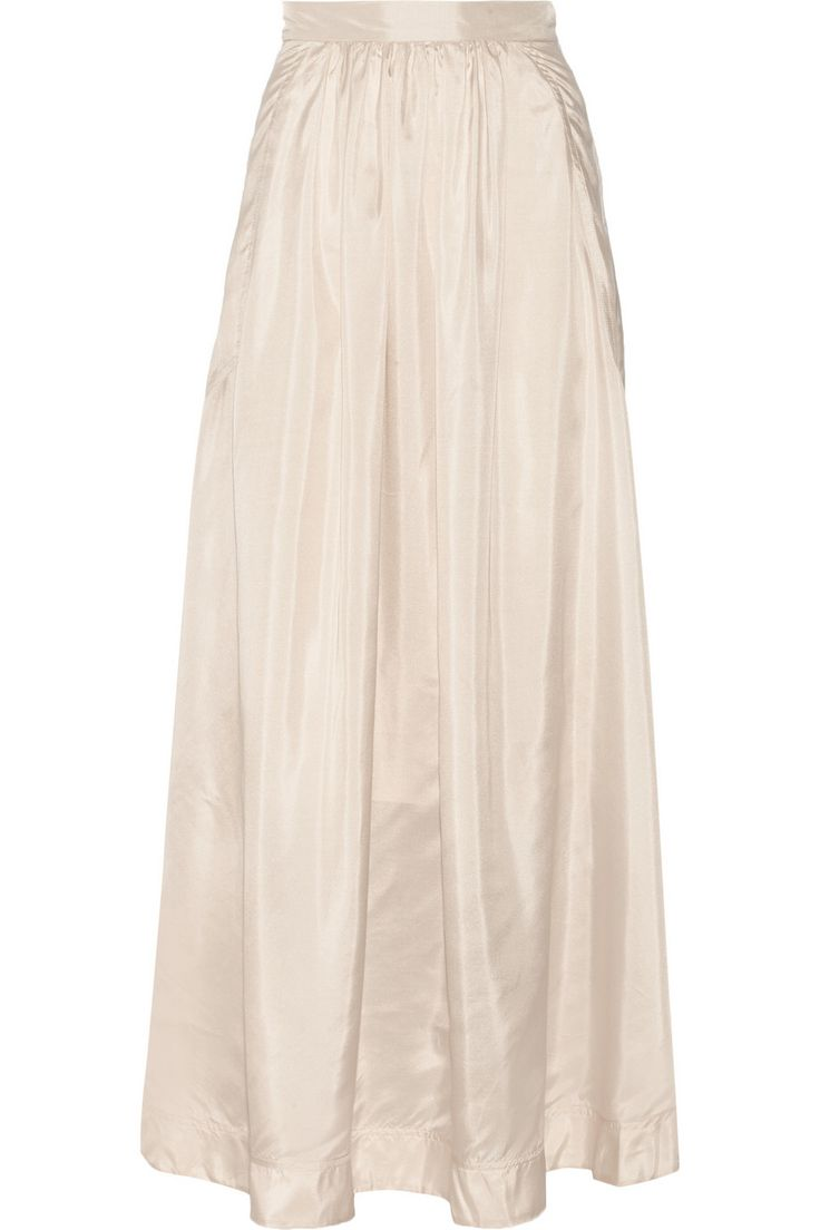 BY MALENE BIRGER Cudy pleated silk maxi skirt €210 http://www.theoutnet.com/products/529236