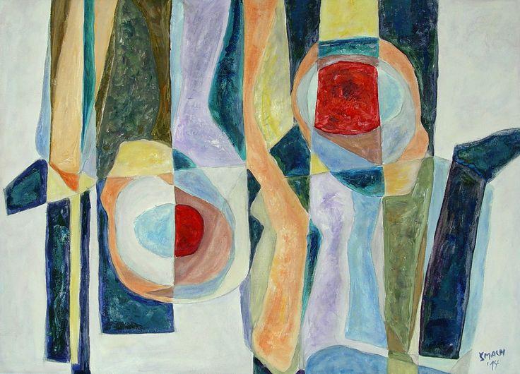 Paraelní dvojčata, 2014 Akryl na plátně 41,5 x 56,5