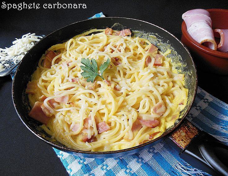 Reteta culinara Spaghete carbonara din categoria Paste si pizza. Cum sa faci Spaghete carbonara
