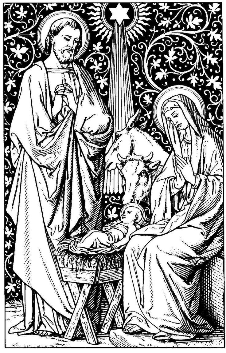 100 Nativity Scene Coloring Pages