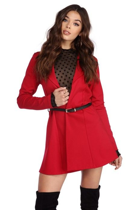 Lady In Red Trench Coat | WindsorCloud