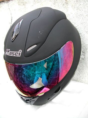 MASEI 802 DOT MOTORCYCLE HELMET FLAT BLACK size M L XL
