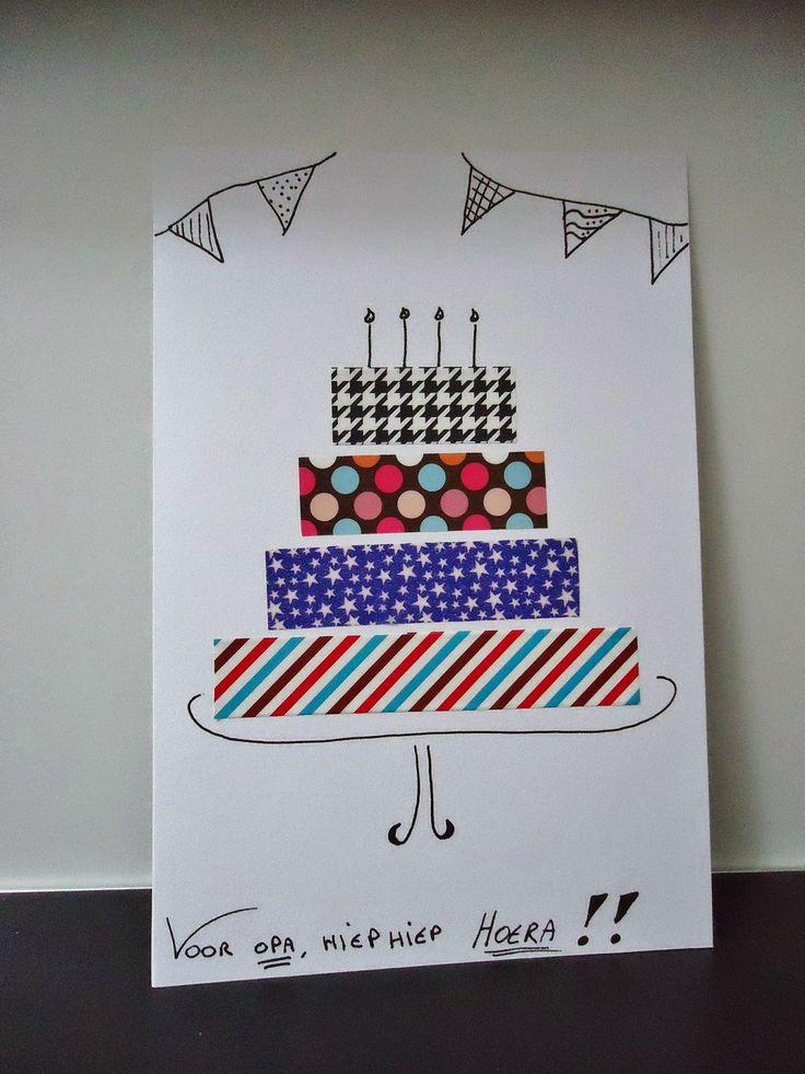 DIY verjaardagskaartje met washi tape
