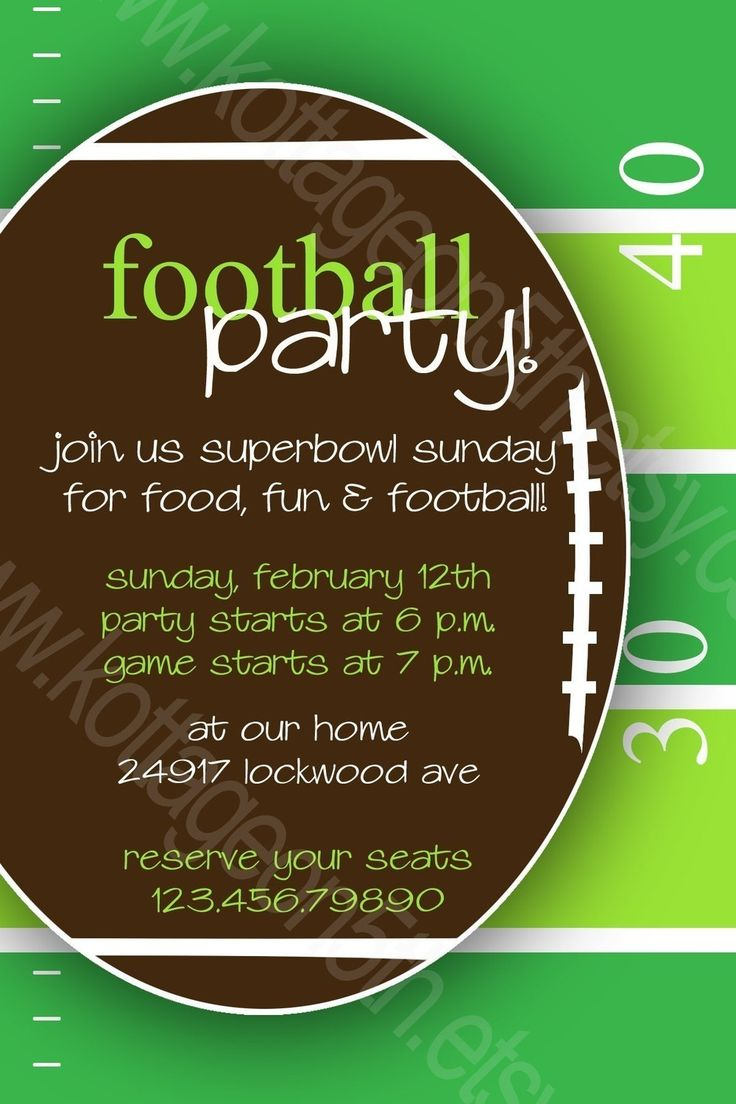 14 best Invitations images on Pinterest | Football parties ...