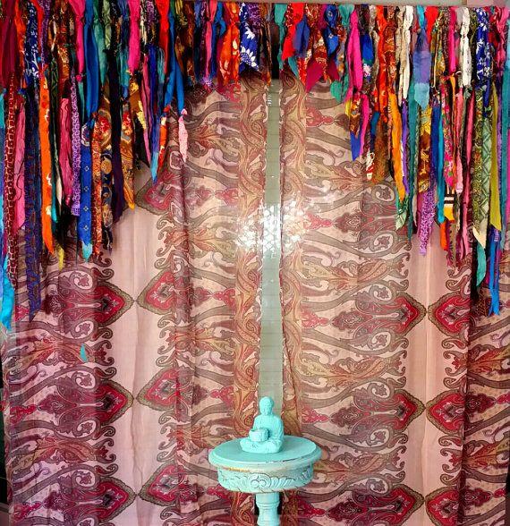 Boho Curtains Drapes Panels Hippie Hippy Boho Gypsy Fringe