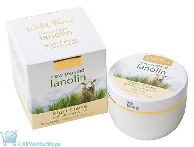 Lanolin Night Cream with Placenta and EPO - Wild Ferns - 95ml | Shop New Zealand