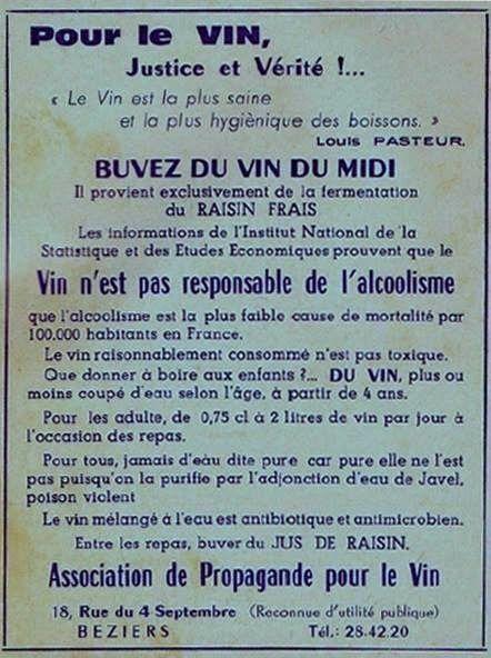 Propagande sur le vin et loi Evin ne font pas bon ménage
