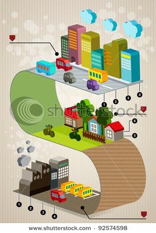 Stock Vector Illustration:  Set of city social infographics, City of info graphics Graphics