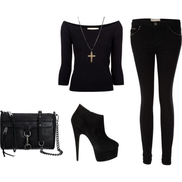 """""""All Black"""" by kathrine17 on Polyvore"""