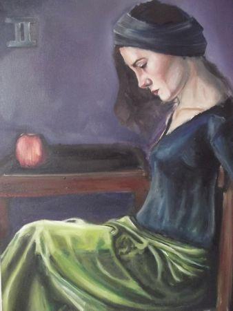 """""""Elma"""", genç sanatçı Şenol Karakaya'nın bu ay en çok incelenen eserleri arasında."""