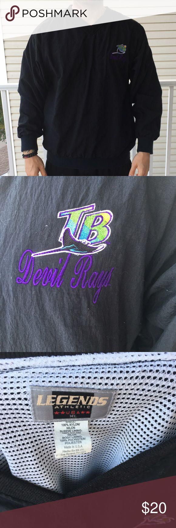 Shirt design tampa - Vintage Legends Athletics Tampa Bay Rays Jacket Fire Tampa Bay Devil Rays Pull Over Jacket