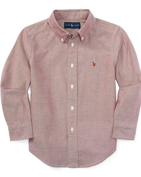 Long-Sleeve Oxford Shirt - Boys 2-7 Long Sleeve - RalphLauren.com