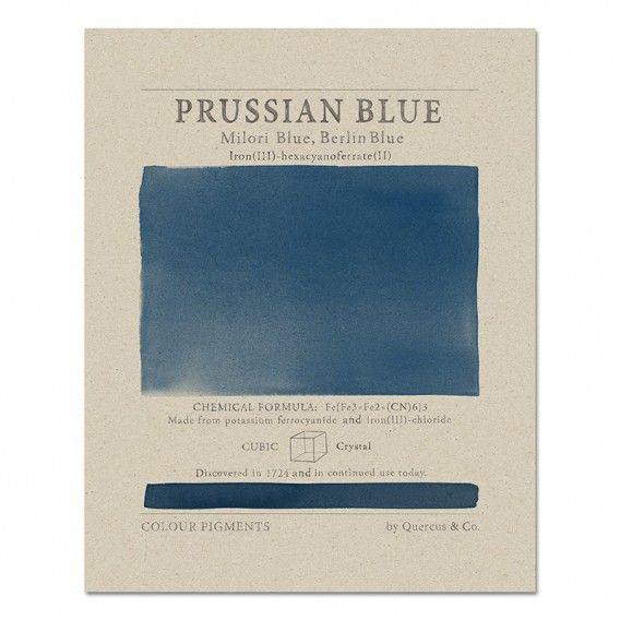 Pigments in Prussian Blue