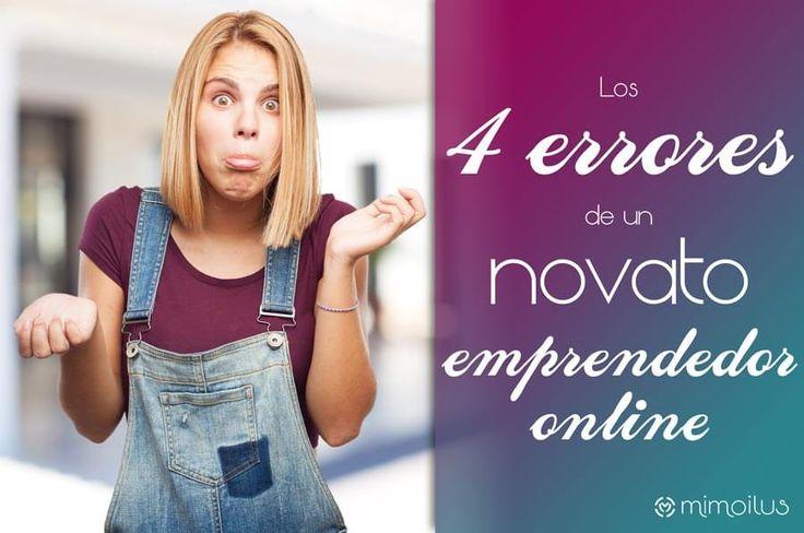 Los 4 errores de un novato emprendedor que no debes cometer y cómo evitarlos. Plantilla regalo #blog #emprender http://blgs.co/79T9b-