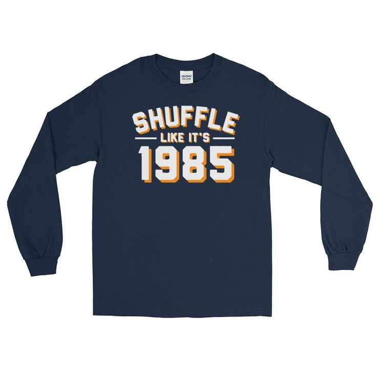 Excited to share the latest addition to my #etsy shop: Shuffle Like it's 1985 Chicago Bears Long Sleeve T-Shirt #beardown #bearstshirt Super Bowl Shufflin #chicagobears