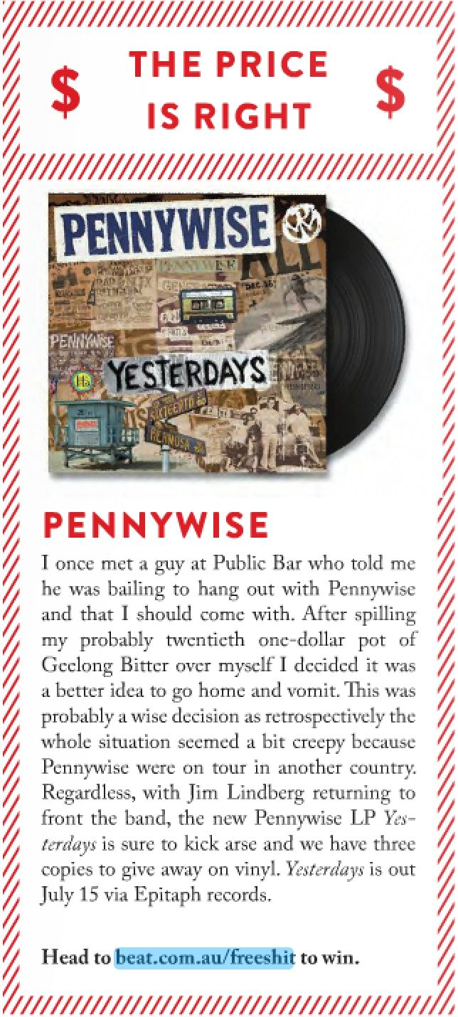 Pennywise Vinyl Giveaway! Beat Magazine 2.7