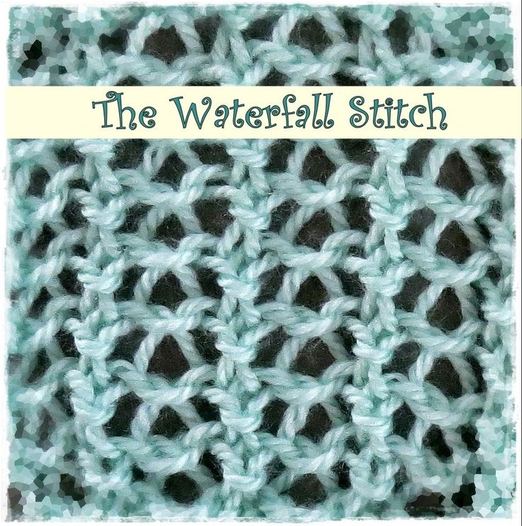 Loom Knitting Waterfall Stitch