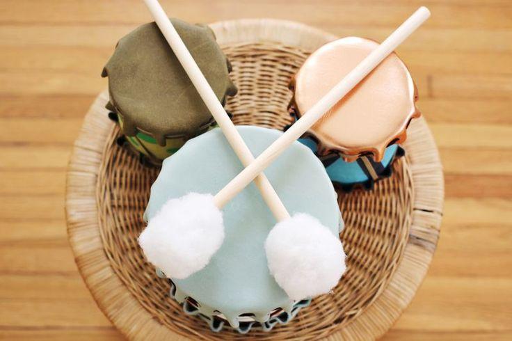 Des tambours silencieux DIY à fabriquer pour vos enfants