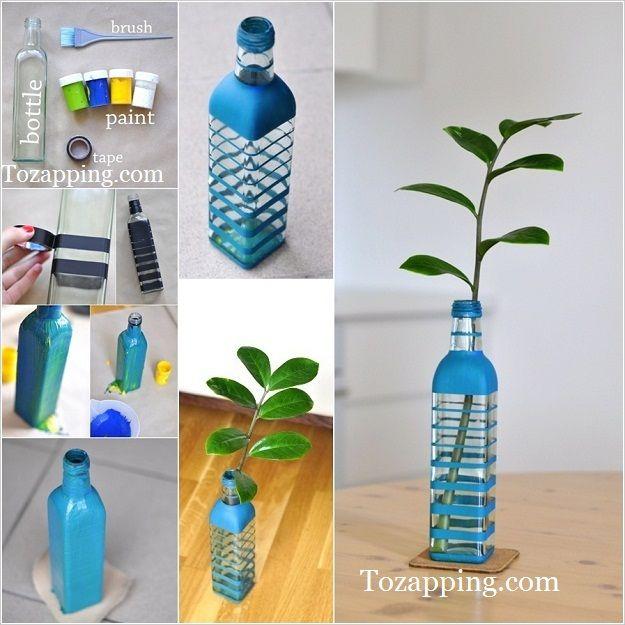 cmo pintar una botella de vidrio fciles cmo pintar una botella de vidrio