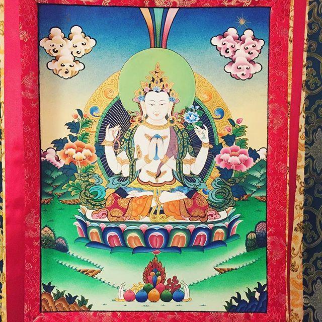 #Chenrezig #Thangka #kagyulineage #buddhism #buddha #karmapa #karmakagyu #karmapachenno #kagyu #mantra #mandala #mahakala #Rinpoche #Lama #Dharma #dupsengrinpoche #chogyalrinpoche #chogyal #dupseng #vajrayana #meditation