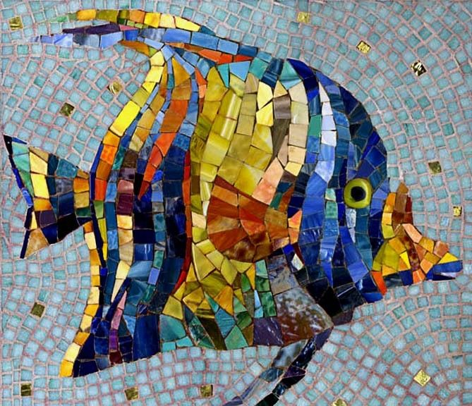 17 best images about mosaic fish sea on pinterest for Drawing mosaic pictures