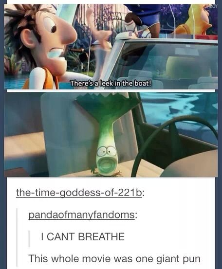 Tumblr Cloudy with a chance of meatballs two- the one giant pun movie of the century